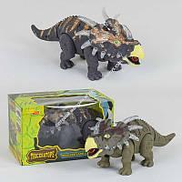 Динозавр Трицераторпс ходит, музыкальный со светом, в коробке (ОПТОМ) 6632