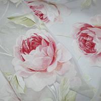 Органза джун розы розов/св.зеленый
