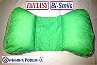 Подушка для беременных Fantasy Bi-Smile. В комплекте Наволочка 2-сторонняя (Салатовые узоры / Салатовые точки)