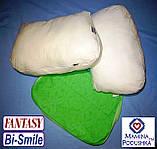 Подушка для беременных Fantasy Bi-Smile. В комплекте Наволочка 2-сторонняя (Салатовые узоры / Салатовые точки), фото 6