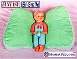 Подушка для беременных Fantasy Bi-Smile. В комплекте Наволочка 2-сторонняя (Салатовые узоры / Салатовые точки), фото 7