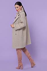 Жіноче осіннє сіре пальто з вовни