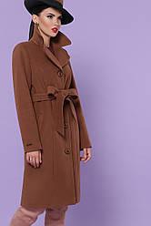 Жіноче кашемірове пальто коричневого кольору