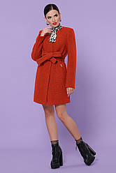 Коротке вовняне пальто жіноче