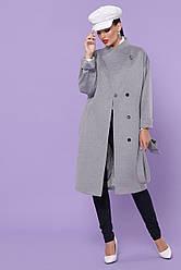 Жіноче сіре пальто оверсайз