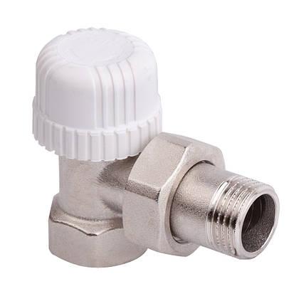 Угловой терморегулирующий вентиль простой регулировки 3/4 ICMA 774 (Италия), фото 2