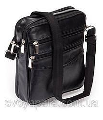 Мужская сумка барсетка кожаная чёрная (09-99)