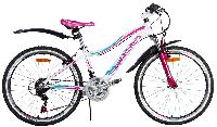 "Велосипед Cyclone 24"" DREAM рама 13"" белый"