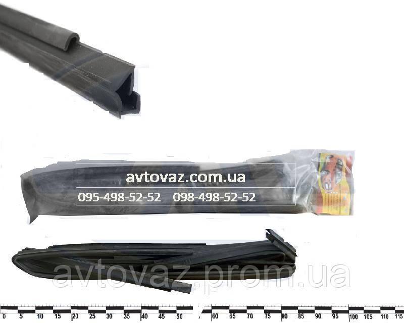 Уплотнитель опускного стекла двери ВАЗ 2171 Приора, ВАЗ 2111 рамочный верх (к-т 4 шт.) AD Plastik