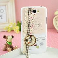 "Чехол ""Мишка и кружева"" для Samsung Galaxy Note II N7100"