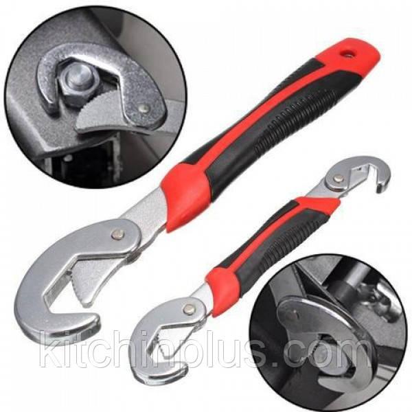 Универсальный гаечный разводной ключ Snap N Grip 2 шт. Для сантехников, авто, инженеров