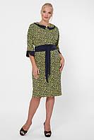 Платье женское Натали горчичное, фото 1