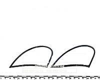 """Уплотнитель заднего бокового стекла ВАЗ 1119 Калина (к-т 2 шт.) """"глухие"""" AD Plastik"""