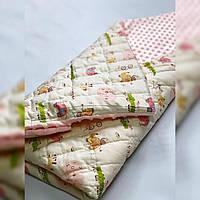 Плед в кроватку/коляску, цвет персиковый