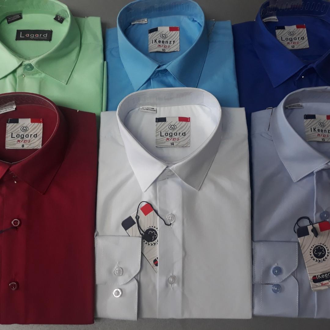 Детские однотонные рубашки в ассортименте LAGARD