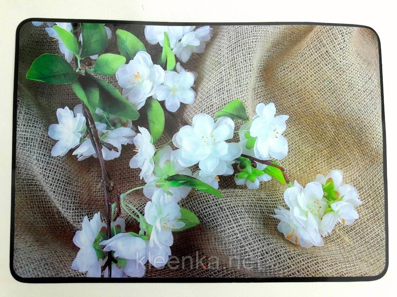 Пластиковая салфетка с цветочным принтом, прямоугольная  28*40 см