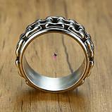 Стильное модное кольцо с мото-цепью 16173, фото 2