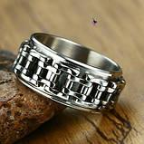 Стильное модное кольцо с мото-цепью 16173, фото 3