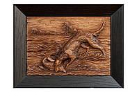Резная трехмерная картина Охота на лисицу