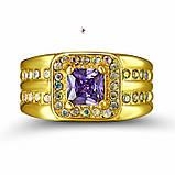 Роскошный мужской перстень с сиреневым камнем, фото 3
