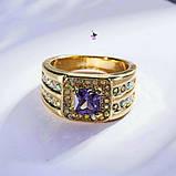 Роскошный мужской перстень с сиреневым камнем, фото 2