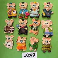 Магниты на холодильник керамика год крысы  Символ 2020  5,5*3,5 см
