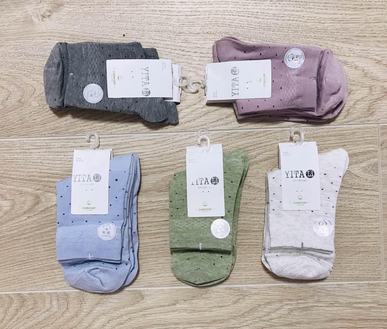 Шкарпетки жіночі демісезонні бавовна YITALI розмір 37-42 асорті