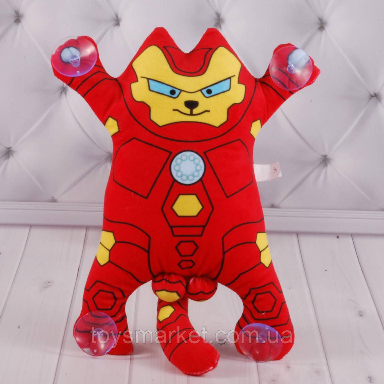 """Мягкая игрушка кот Саймона, Железный человек, """"Simon's Cat"""", игрушка кот на присосках, 30 см."""