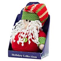 Мягкая игрушка сувенирная Красный Дед Мороз в красной шапке, 9см (000265-14)