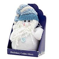 Мягкая игрушка сувенирная Белый Дед Мороз с белой бородой, 9см (000265-16)