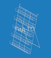 Стенд для специй и приправ навесной 5 полок (25 карманов), фото 1