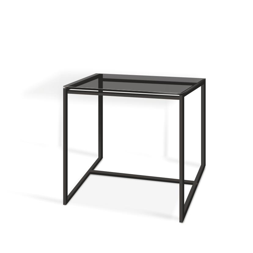 Стол журнальный Куб 400 стекло 8 мм Графит / черный (Cub 400 gray8-black)