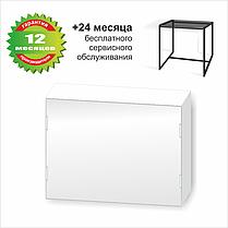 Стол журнальный Куб 400 стекло 8 мм Графит / черный (Cub 400 gray8-black), фото 2