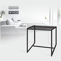 Стол журнальный Куб 400 стекло 8 мм Графит / черный (Cub 400 gray8-black), фото 3