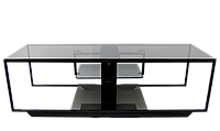 Стеклянная тумба под телевизоры Commus Премиум 1080 gray485 bl (1080x340x3980)