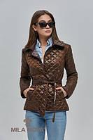 Куртка короткая демисезон стеганая ML коричневая