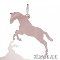 Серебряная подвеска Конь позолота 29696