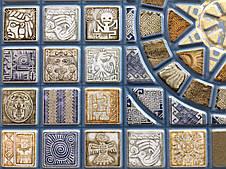 """Панели ПВХ Мозаика """"Медальон синий"""", фото 3"""