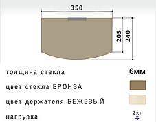 Комплект для тюнера - кронштейн 60М и бронзовая полка на уголке, фото 3