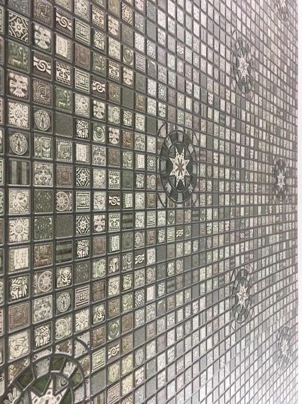 """Панели ПВХ Мозаика """"Медальон олива"""""""