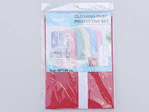 Чехол для хранения одежды из плащевки красного цвета, размер 60*100 см