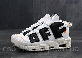 Мужские кроссовки Nike Air More Uptempo (белые)
