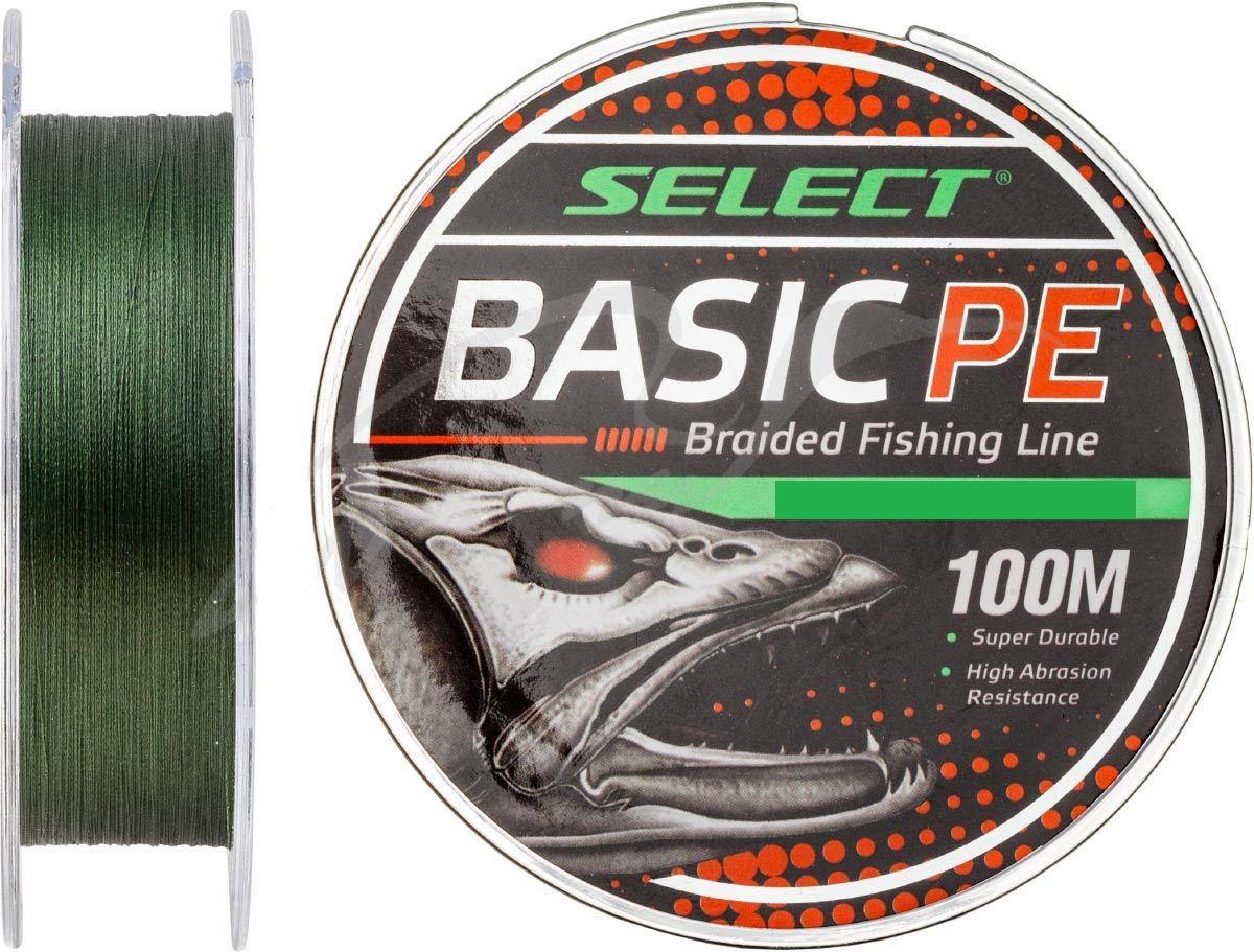 Шнур Select Basic PE 100m (темн.зелен.) 0,10мм 10LB/4,8kg