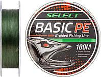 Шнур Select Basic PE 100m (темн.зелен.) 0,18мм 22LB/9,9kg