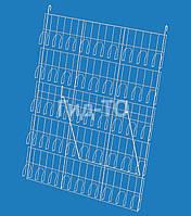Стенд навесной с прижимными карманами 5 полок (85х6,2х116)