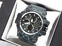 Спортивные наручные часы Casio G-Shock Ferrari хаки, темно-серый камуфляж, фото 1