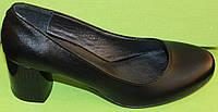 Туфли женские кожаные на каблуке от производителя модель В2020Р