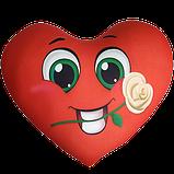 Сердце - подушка антистресс, полистерольные шарики, фото 3