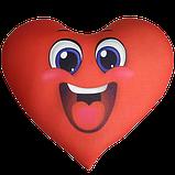 Сердце - подушка антистресс, полистерольные шарики, фото 5