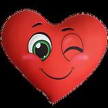 Сердце - подушка антистресс, полистерольные шарики, фото 6